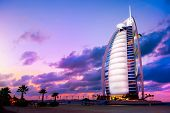 DUBAI, UAE - NOVEMBER 27: Burj Al Arab hotel on Nov 27, 2011 in Dubai. Burj Al Arab is a luxury 5 st