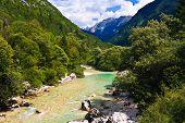 Alpine River Soca / Isonzo, Slovenia