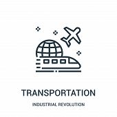 Transportation Icon Isolated On White Background From Industrial Revolution Collection. Transportati poster