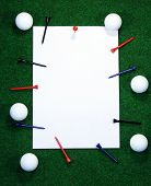 Golf Note With Pegs