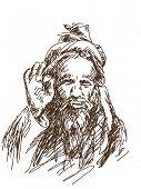 Hand drawn sadhu