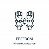 Freedom Icon Isolated On White Background From Industrial Revolution Collection. Freedom Icon Trendy poster