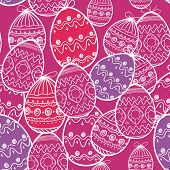 Easter eggs seamless background