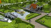 picture of dimentional  - Recreation area with a pond and a bridge - JPG