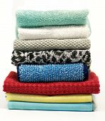 Colorful terry cloth towels