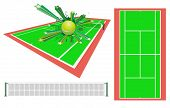 tennis design element