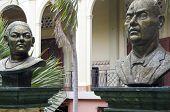 Statue Lolita Soreano Julian Guerrero Palacio Nacional Managua Nicaragua