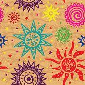 Patrón étnico sol