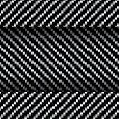 Carbon Fiber Texture, Bound Crosswise Fibers Background, Eps10