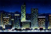 Buildings At Night poster