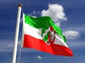 North Rhine-westphalia Flag Germany