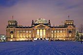 Berlin Reichstag Christmas Snow