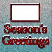 Seasons Greetings Card Or Tag With Blank Space