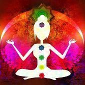 pic of padmasana  - Yoga lotus pose - JPG