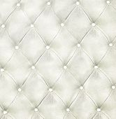 Luxury and modern style background with classic white and gray leather texture of an old retro door