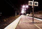 Moody Train Station At Night