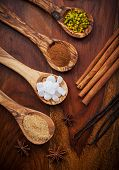 picture of aromatic  - Aromatic food ingredients for baking Christmas cookies - JPG