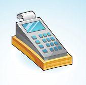 Icon Cash Register - Vector Illustration