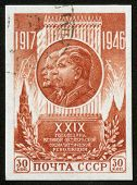 Briefmarke mit stalin