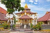 stock photo of dua  - Protestant Cristian church Jemaat Bukit Doa in Nusa Dua - JPG