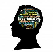 foto of laws-of-attraction  - Law of attraction in word collage - JPG