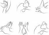 Reflexology techniques
