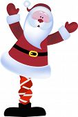 stock photo of knickers  - Santa with his knickers in a knot  - JPG