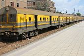 stock photo of ramses  - Old Train at Misr Ramses Station in Cairo Egypt - JPG