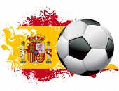 Spain Soccer Grunge Design