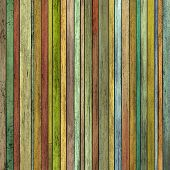 Abstract Grunge 3D Render Colored Wood Timber Plank Backdrop