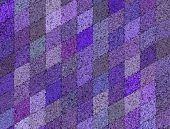 3D Mosaic Abstract Purple Backdrop