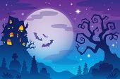 Halloween Thema Hintergrund 1 - eps10-Vektor-Illustration.