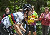 The Cyclist Mark Cavendish- Col Du Granier 2012