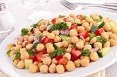 stock photo of chickpea  - chickpea salad - JPG
