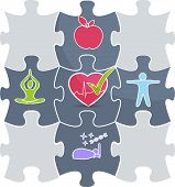 Healthy lifestyle puzzle
