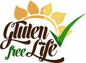 stock photo of wheat-free  - Gluten free life message - JPG