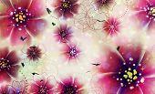 Purple Flowers Design