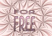 Illustration Of A Best Price Free Icon  On Vintage Backgrond