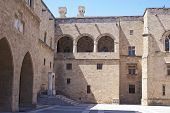 Courtyard Of The Palace Of The Grand Master, Rhodes