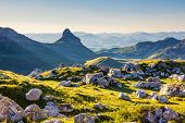 Wonderful view to mountains in the national park Durmitor in Montenegro, Balkans. Europe. Beauty world.