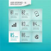 user interface - graphic design elements, layout, colorful background