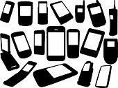 Conjunto de teléfonos celulares