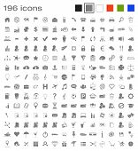 image of funeral home  - 196 vector icons covering various areas like communications - JPG