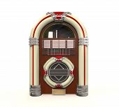 foto of jukebox  - Juke Box Radio Isolated on white background - JPG