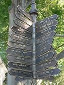 Signs And Mileage To Various Cities From Odessa
