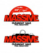 Massive clearout sale design templates.