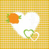 Vector Illustration Of Beautiful Heart Icon. Card For Valentine's Day, Invitation Or Congratulation.