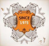Vector. Vintage emblem