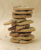 a pile of cookies