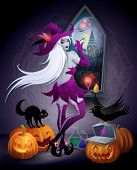 pic of witchcraft  - Halloween illustration  - JPG